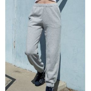 Brandy Melville Light Heather Grey Rosa Sweatpant